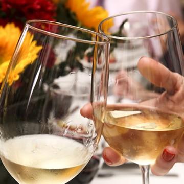 White Wine Glasses Cheers Ashley Ruzich